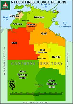 Bush fires region