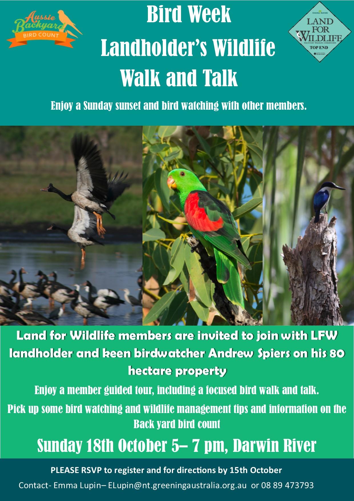aussie backyard bird count land for wildlife top end