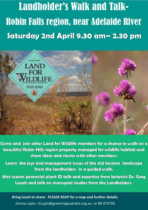 2016 Landholders walk and talk