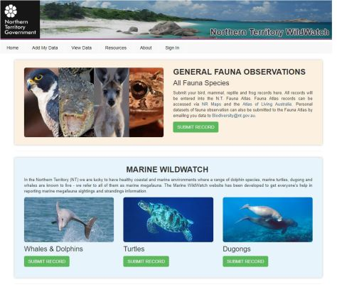 Wildwatch page